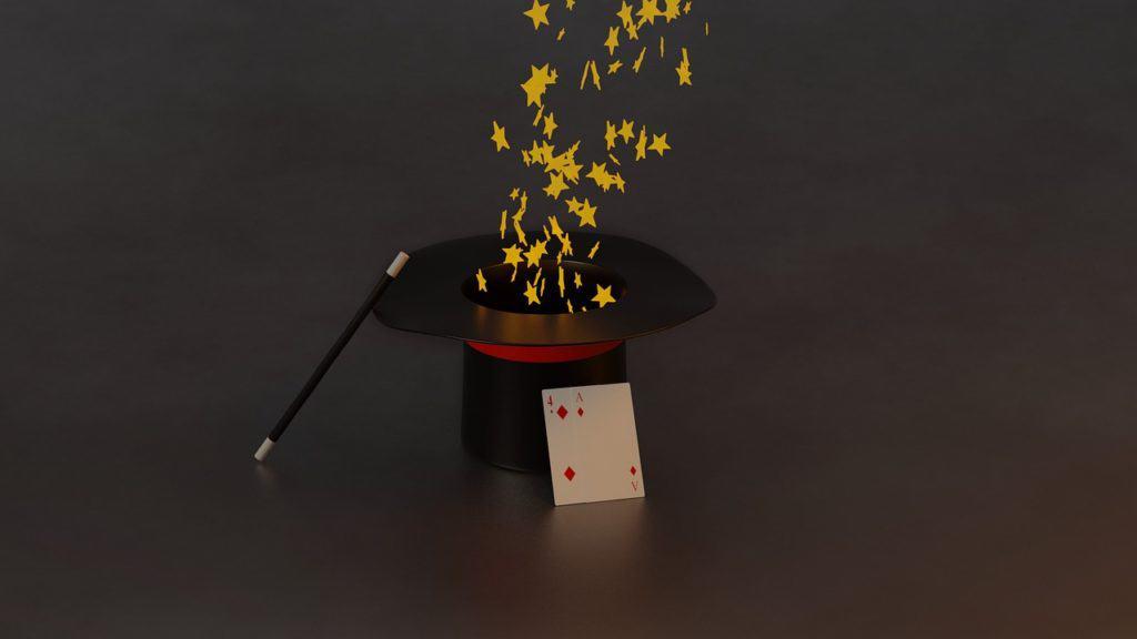 כובע ומקל של קוסם